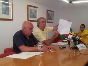 Gil y Muñoz, en una rueda de prensa conjunta.