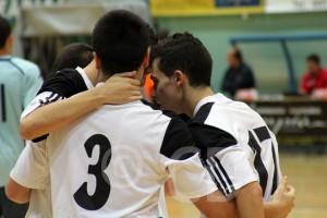 Jugadores de la UA Ceutí FS celebran un gol en un partido de esta temporada