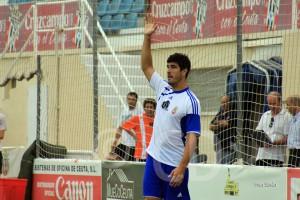 Ale Hornillo, durante un entrenamiento de la pasada temporada en el Murube
