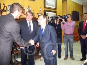 Jorge Pérez, entre García Gaona y Juan Vivas