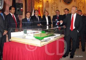 Momento de la presentación de la maqueta de la nueva sede federativa
