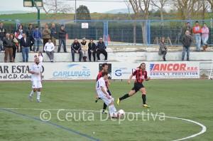 El Atlético de Ceuta no fue inferior al Cabecense, pero volvió a perder a domicilio