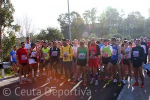 93 corredores participaron en el Campeonato de Ceuta de cross