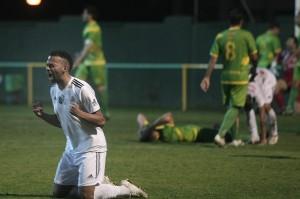 Randy celebra el gol marcado por Prieto en el último suspiro
