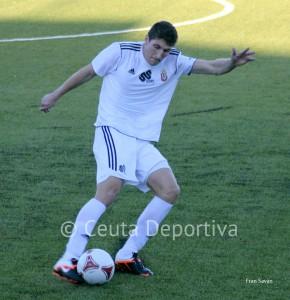 Jaime es uno de los fijos en las alineaciones del Atlético de Ceuta