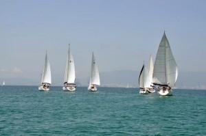 Una imagen de la regata celebrada el sábado en aguas de la Bahía de Algeciras