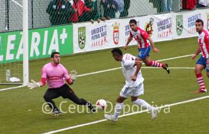 Randy, que marcó dos goles ante el Algeciras, regresa al 'once'' tras no jugar en Coria al estar con su selección