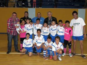 El Puerto Disa benjamín se ha proclamado campéon en fútbol-8 y fútbol sala
