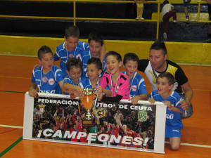 El Puerto Bar Portuario, campeón de la Liga prebenjamín
