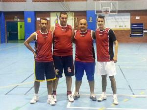 Uno de los equipos participantes en la I Liga 3x3 + 100 años de básquet