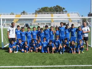 El tercer grupo de alumnos que participa en el IV Campus de fútbol de verano 'Emilio Cózar'