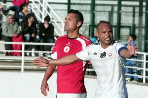 Sandro Marques, durante un partido de la pasada temporada con el Atlético de Ceuta