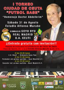 Cartel oficial del torneo que recuerda al doctor Abdelkrim