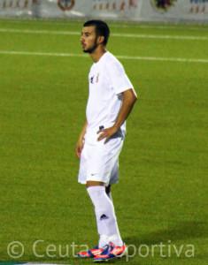 Ismael, el pasado miércoles durante el partido amistoso ante la Balompédica Linense