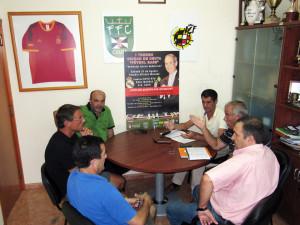 Una imagen de la reunión celebrada este viernes en la sede de la Federación de Fútbol de Ceuta