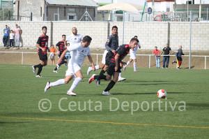 El CD Gerena - AD Ceuta FC fue un partido muy equilibrado y reñido al que le faltaron los goles