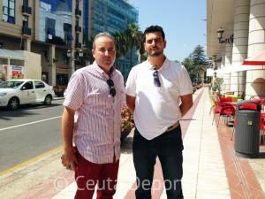 Juan Carlos Trujillo y Yasin Mohamed, organizadores del I Memorial Mustafa Amechrak de tenis