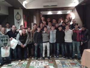 El equipo cadete se reunió con directivos y técnicos para celebrar la Navidad