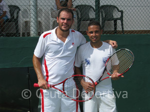Rafael Amador y Cristian Molina disputaron la final del cuadro absoluto masculino
