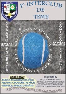 Cartel del I Interclub Loma Margarita-Club Tenis de Tánger