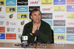 José Antonio Asián, esta tarde en la sala de prensa del Murube