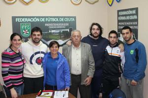 Los clubes se reunieron este martes en la sede la Territorial con Olga Chaves y José María Oliveira